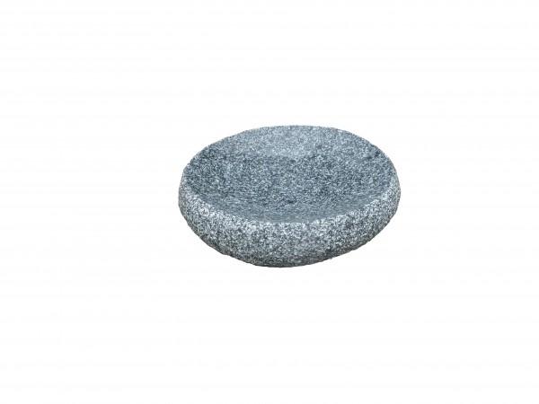 Granitvogeltränke rund, grau