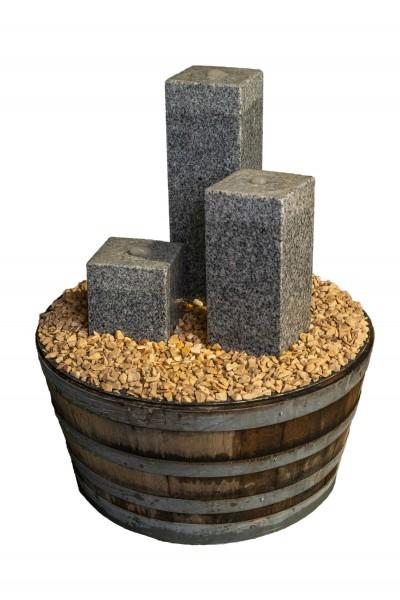 Weinfass Wasserspiel Komplett-Set Square