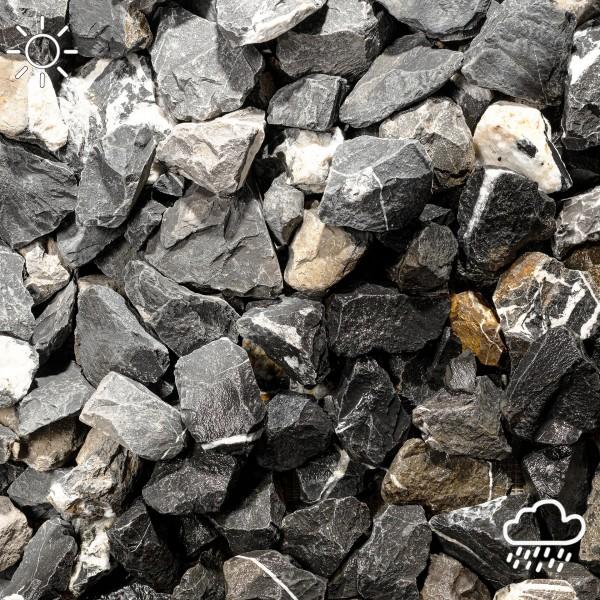 Bruchstein schwarz