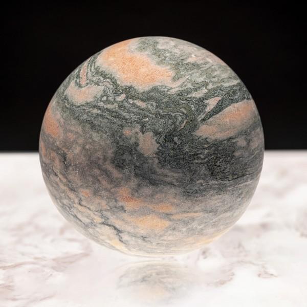 Marmor-Kugel orange, poliert